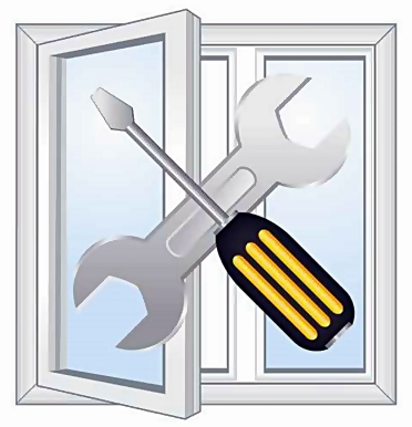 Windows repair workshop emblem